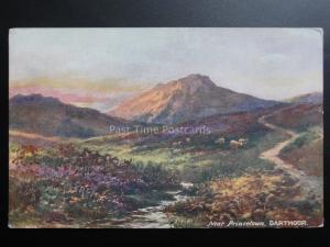Devon: Dartmoor near Princetown c1910 - Art by Jenkins, Pub by Raphael Tuck