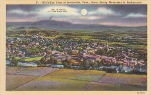 Bird's Eye View Of Sevierville Great Smoky Mountains in Background Tennessee