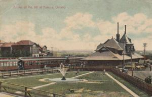 KENORA , Ontario, Canada, 1908 Train at Railroad Depot