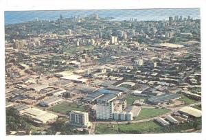 Aerial view of Panama City, Panama, 40-60s
