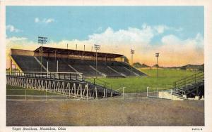 E30/ Massillon Ohio Postcard Linen Tiger High School Football Stadium 3