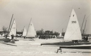 RP; WILLIAMS BAY , Wisconsin, 1948 ; Ice Sailing