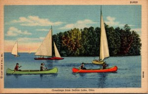 Ohio Greetings From Indian Lake Curteich