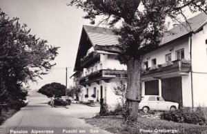 Pension Alpenrose Fuschl Am Austria Old Real Photo Postcard