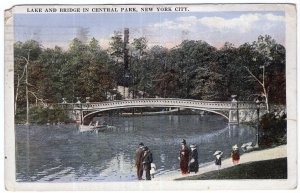 Lake and Bridge in Central Park, New York City