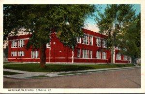 Missouri Sedalia Washington School 1941 Curteich