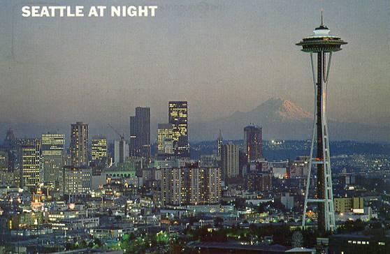 WA  Seattle. View at nigh