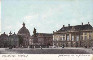 COPENHAGEN, Denmark, 1900-1910's; Amalienborg And The Marblechurch