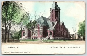 Moberly MO~Coates Street Presbyterian Church~Neighborhood~1909 Robinson's Book