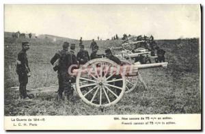 Old Postcard Militaria Our 75mm cannon in action