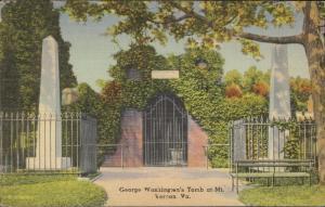 George Washington's Tomb at Mt. Vernon Virginia linen