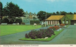Bowling Green Kensington Gardens Lowestoft Postcard