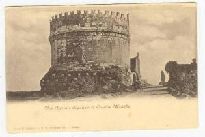 Via Appia e Sepolero di Cecilia Metella, Italy, 1890s