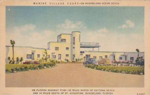 Florida Marineland Marine Village Court On Marineland Ocean Beach 1940