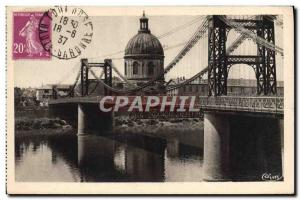 Old Postcard Toulouse The suspension bridge
