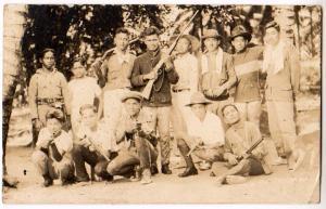 RPPC, Oriental Men with Guns