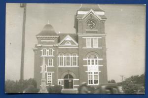 Talbot County Court House Talbottom Georgia ga real photo postcard RPPC