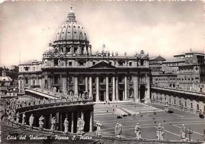 Italy Old Vintage Antique Post Card Citta del Vaticano Piazza S Pietro Postal...