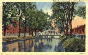 Mills along the Canal in Lewiston, Maine