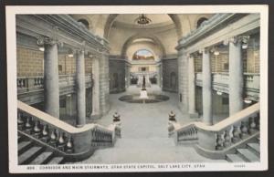 Corridor and Main Stairways Utah State Capitol Salt Lake City Utah TC Co 499