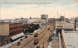 Manitoba Winnipeg  Main Street, looking north from Union Depot