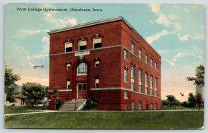 Oskaloosa Iowa~Penn College Gymnasium~Arrow Points to My Office~c1910 Postcard