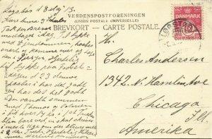 denmark, LØGSTØR, Raadhusgaden, Church (1913) Postcard