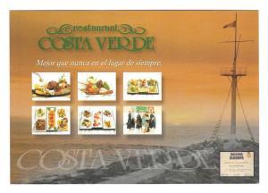 Lima Peru Restaurant Costa Verde Barranquito Ad Postcard