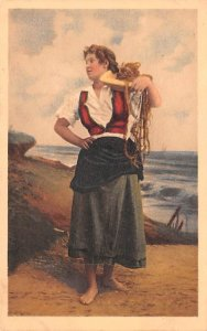 Woman on Shore Norway Paper on back