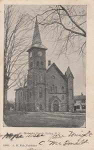 Methodist Church - Holley, Orleans County NY, New York - pm 1907 - UDB
