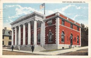 Greensburg Pennsylvania~Post Office~House Next Door~1922 Postcard