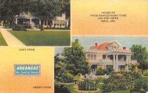 Mena Arkansas~Home Of Those Famous Radio Stars Lum And Abner~1940 PC