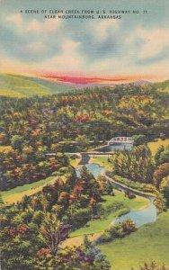 Arkansas Mountainburg A Scene Of Clear Creek From U S Highway No 71