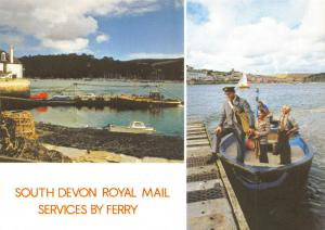 Postcard, South Devon Royal Mail Services by Ferry Multi View 60S