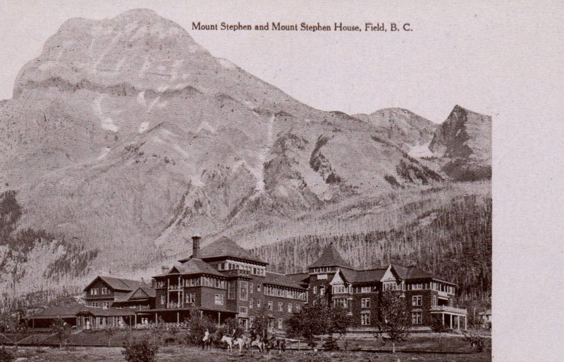 Mount Stephens and Mount Stephens House,Field,British Columbia,Canada