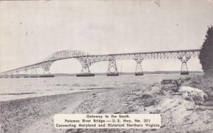 Potomac River Bridge , Maryland, 1940s ; U.S. HWY 301