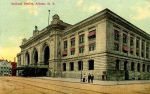 NY - Albany. Railroad Station