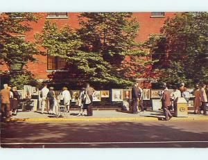 Pre-1980 OUTDOOR ART GALLERY IN GREENWICH VILLAGE Manhattan New York NY Q7611