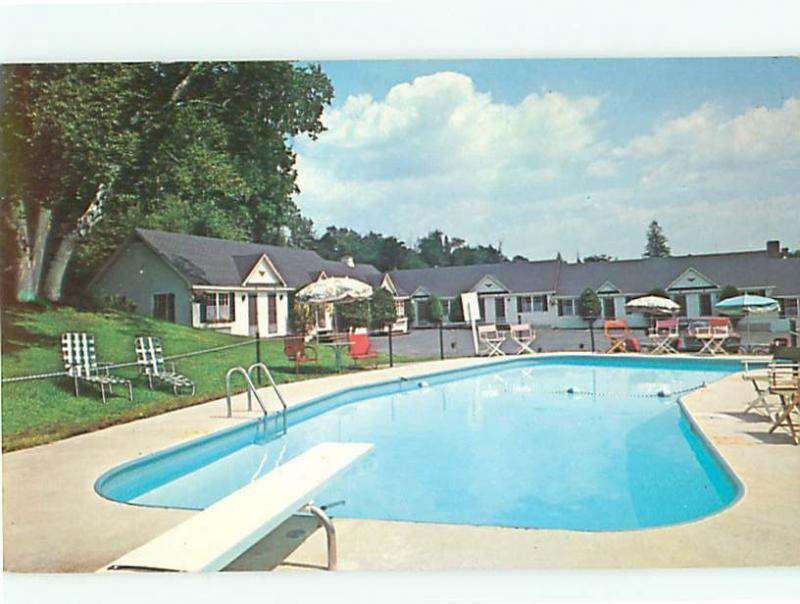 Littleton New Hampshire Motel Bob Evy Nast Hotel Postcard 8351