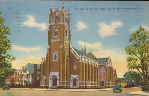 St. Paul's Roman Catholic Church Providence Rhode Island linen