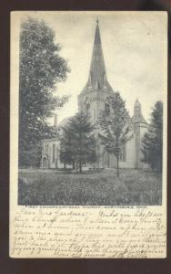AUSTINBURG OHIO FIRST CONGREGATIONAL CHURCH VINTAGE POSTCARD BRISTOLVILLE