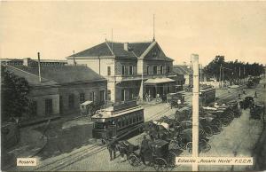 c1910 Postcard; North Station Rosario Norte Depot Argentina Central Railway