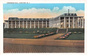 Congress Hall, Cape May, New Jersey, Early Postcard, Unused