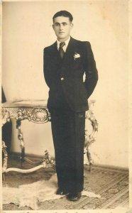 Postcard Social history man portrait