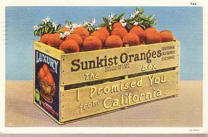 Sunkist Oranges Crate 1937