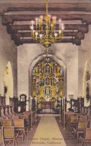 California Riverside Saint Francis Chapel Mission Inn Handcolored Albertype