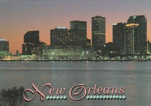 Louisiana New Orleans Skyline From The Mississippi River
