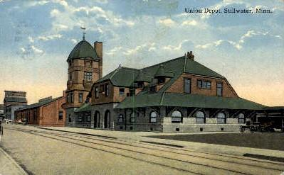 Union Depot, Stillwater, MN, Minnesota, USA Train Railroad Station Depot Post...