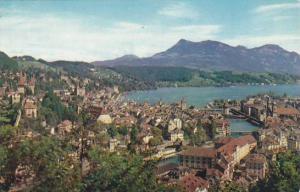 Schweiz Luzern Gesamtansicht mit Rigi