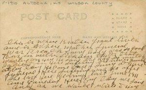 Altoona Kansas Wilson C-1910 Photo Postcard Presbyterian Parsonage 20-1748